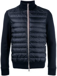 Moncler Padded Front Knitted Cardigan Blue