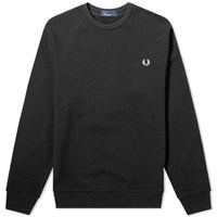 Fred Perry Authentic Reverse Wreath Applique Sweat Black