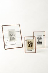 anthropologie pressed glass photo frame copper
