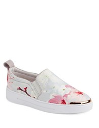 Ted Baker Tancey Floral Slip On Sneakers Oriental Blue