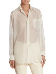 Ralph Lauren Damien Button Front Shirt Cream