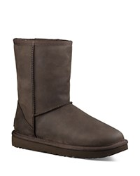Ugg Classic Short Leather And Sheepskin Booties Brownstone