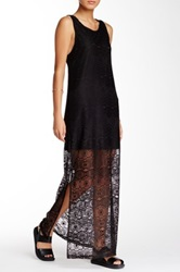 Painted Threads Lace Maxi Dress Juniors Black