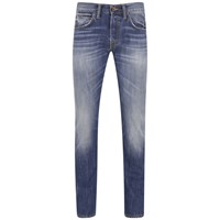 Edwin Men's Ed 55 Break Used Relaxed Tapered Jeans Dark Blue