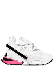Dsquared 60Mm Giant Leather And Neoprene Sneakers White