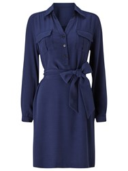 Precis Petite Aubree Tie Shirt Dress Navy