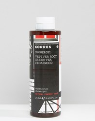 Korres Vetiver Root Green Tea Cedarwood Shower Gel Multi