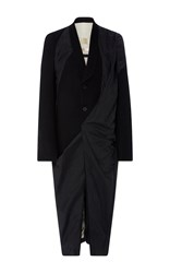 Rick Owens Wool Panel Coat Black