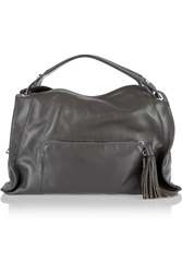 Sandro Adel Leather Tote Gray