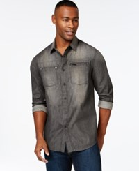Sean John Vintage Wash Shirt Ash Black