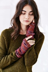 Urban Outfitters Cozy Plush Spacedyed Armwarmer Wine