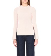 Whistles Fluted Sleeve Knitted Jumper Pale Pink
