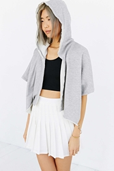 Truly Madly Deeply Cropped Parachute Cardigan Grey