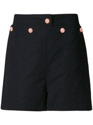 See By Chloe High Waisted Shorts Black