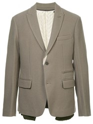 Haider Ackermann Single Breasted Blazer Neutrals