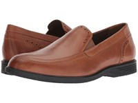 Hush Puppies Shepsky Slip On Dark Tan Leather Shoes Brown
