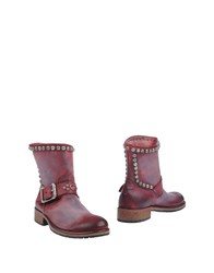 Htc Ankle Boots Maroon