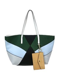 Cynthia Rowley Hayden Colorblocked Tote White Multi