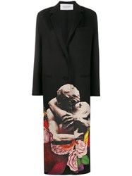Valentino X Undercover Lovers Print Single Breasted Coat 60
