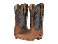 Old West Boots 5552 Tan Fry Blue Crunch Cowboy Brown
