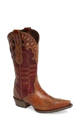 Ariat Women's Zealous Wingtip Western Boot Gingersnap Leather