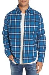 Relwen Men's Double Faced Plaid Flannel Shirt