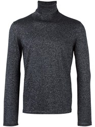 Pal Zileri Metallic Roll Neck Jumper Blue