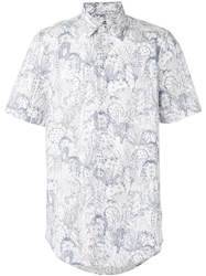Paul Smith By Printed Shortsleeved Shirt Men Cotton L White