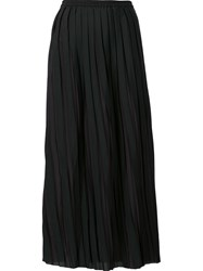 Won Hundred Pleated Mid Skirt Black