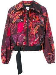 Paul Smith Floral Print Cropped Jacket Multicolour