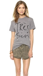 Chrldr Tres Bien T Shirt Heather Grey