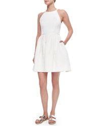 Erin Fetherston Sienna Halter Fit And Flare Cocktail Dress