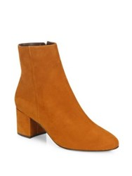 Schutz Lupe Suede Block Heel Booties Wood