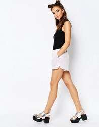 Jaded London Sequin Shorts White