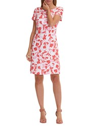 Betty Barclay Floral Print Dress White Red
