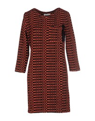 Essentiel Short Dresses Rust