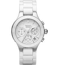 Dkny Ny4912 Chambers Stainless Steel And Ceramic Watch White