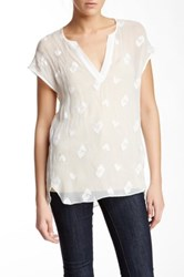 Zoa Silk Cap Sleeve Blouse White