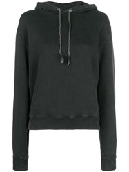 Saint Laurent 1971 Embellished Hoodie Black