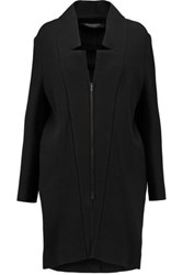 Roland Mouret Marah Textured Cotton Blend Coat Black