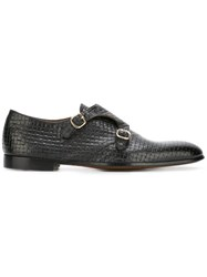 Doucal's Woven Monk Shoes Black