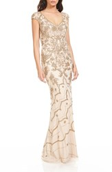 Theia Women's Beaded Gown