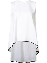 Adam By Adam Lippes Sleeveless High Low Top White
