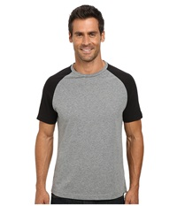 Kenneth Cole Sportswear Short Sleeve Raglan Speckled T Shirt Black Men's T Shirt