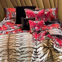 Roberto Cavalli Savage Duvet Set Red King