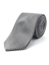Racing Green Wilson Geometric Design Tie Grey