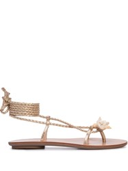 Loeffler Randall Shelly Gladiator Sandals Gold