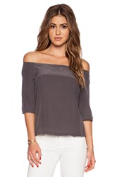 Autograph Addison Dudley Off Shoulder Top Gray