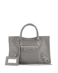 Balenciaga Classic Metallic Edge City Small Bag Gray