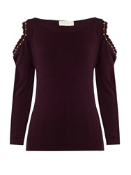 Alex Gore Browne Matilda Wool And Cashmere Blend Sweater Burgundy